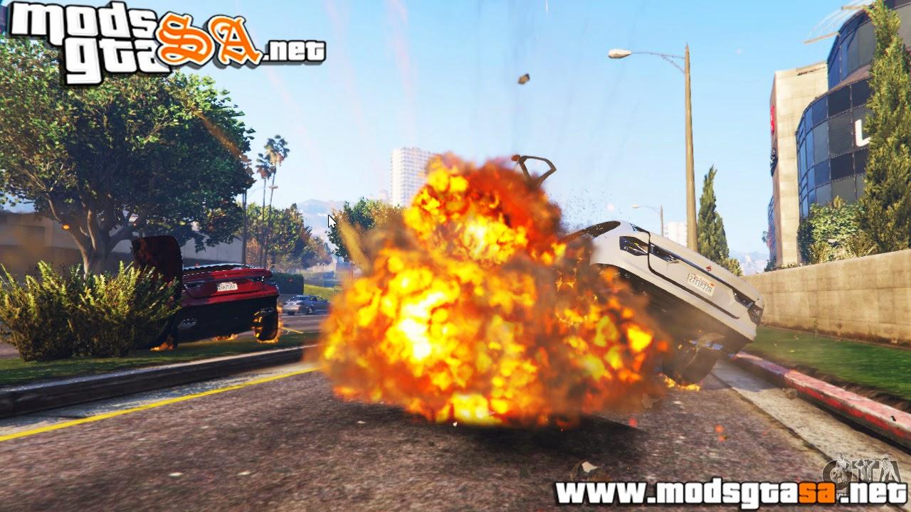 V - Mod Caos (Destruição) para GTA V