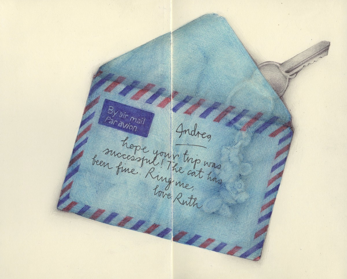 Watercolour Drawing Of A Love Letter