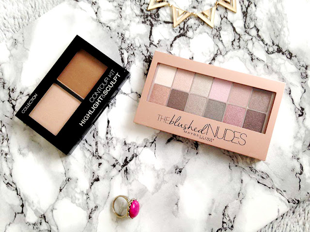 Collection Contour Kit and Maybelline Blushed Nudes Palette