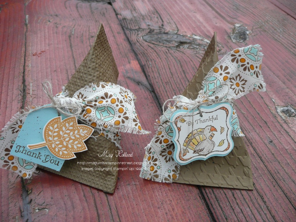Megumis Stampin Retreat Thanksgiving Party Favors