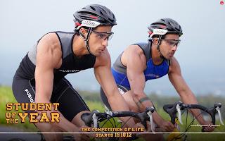 Varun Dhawan, Sidharth Malhotra cycling wallpaper SOTY