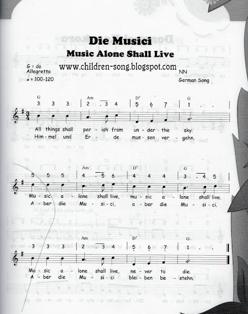 Die Musici - Music Alone Shall Live with Notes and Chords