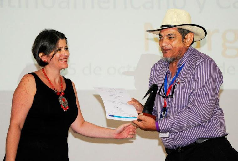 Jorge Luis Romero, ganador del primer lugar del concurso Nacional de Cine y Video Comunitario
