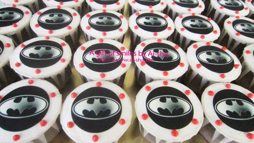 Birthday Cupcake Edible Image Batman Logo
