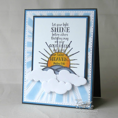 Our Daily Bread Designs Stamp sets: Hello Sunshine, ODBD Custom Dies: Sunburst Background, Clouds and Raindrops