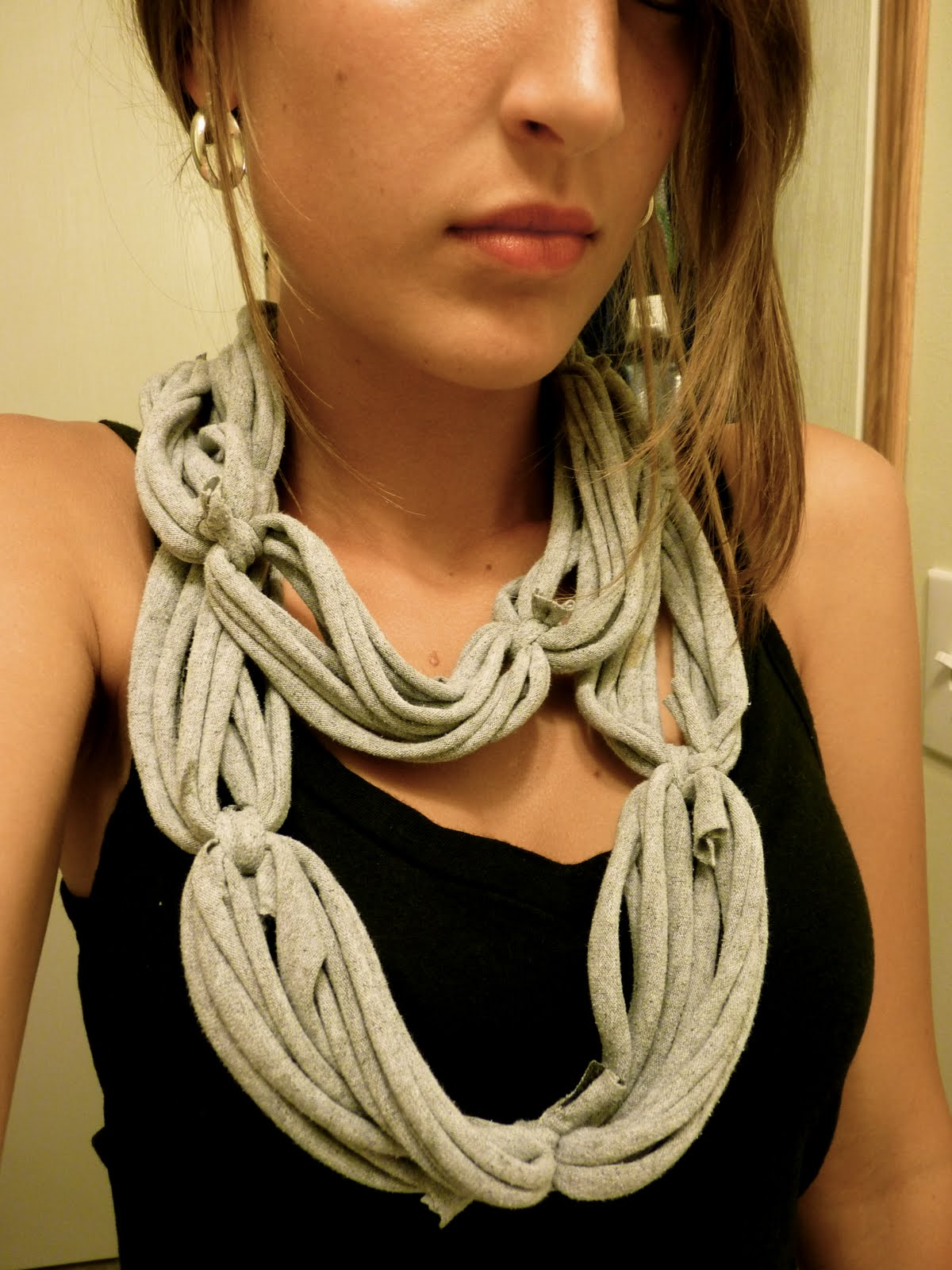 amelia i made another t shirt scarf