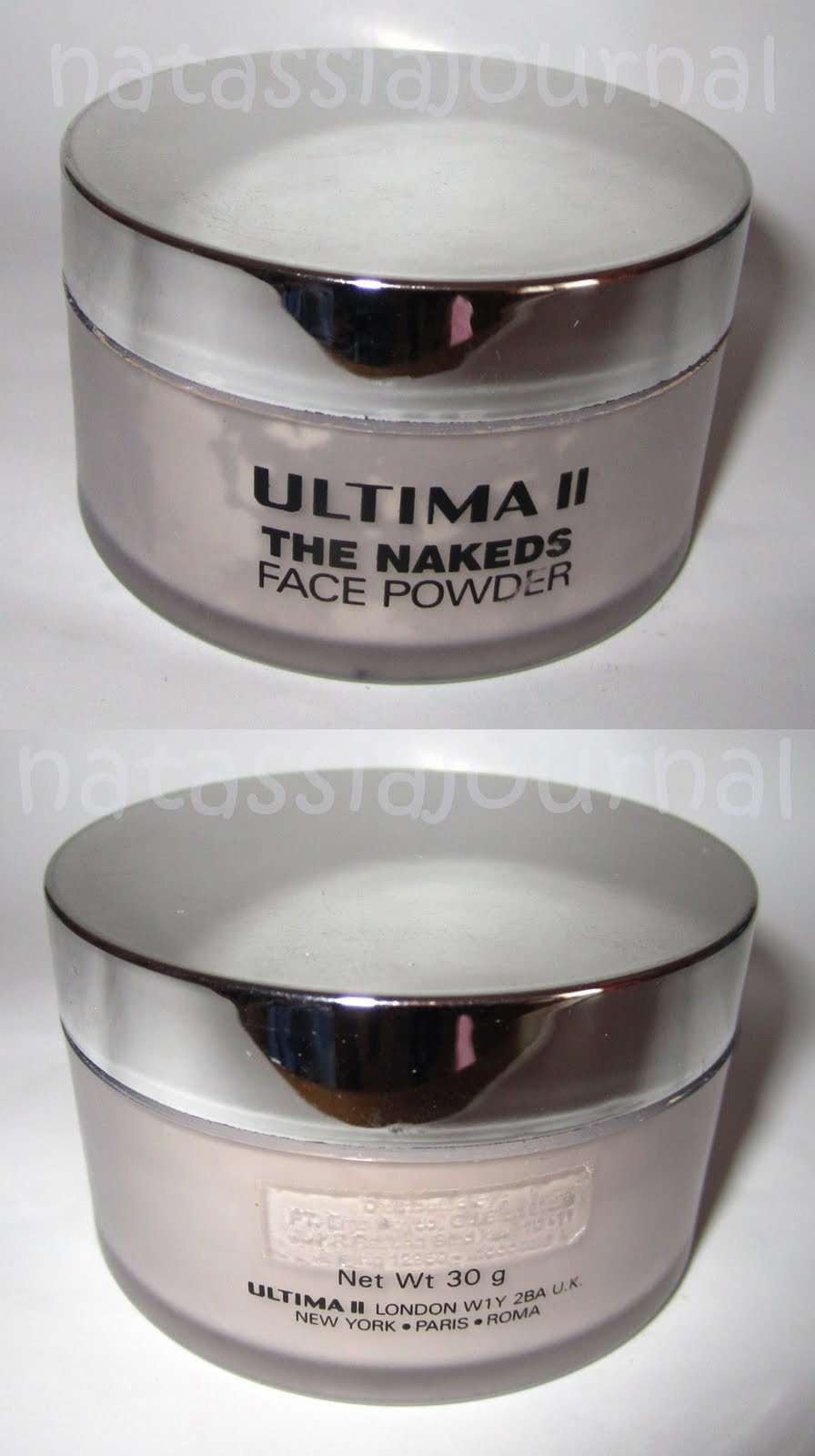 Natassia Journal Ultima II The Nakeds Face Powder