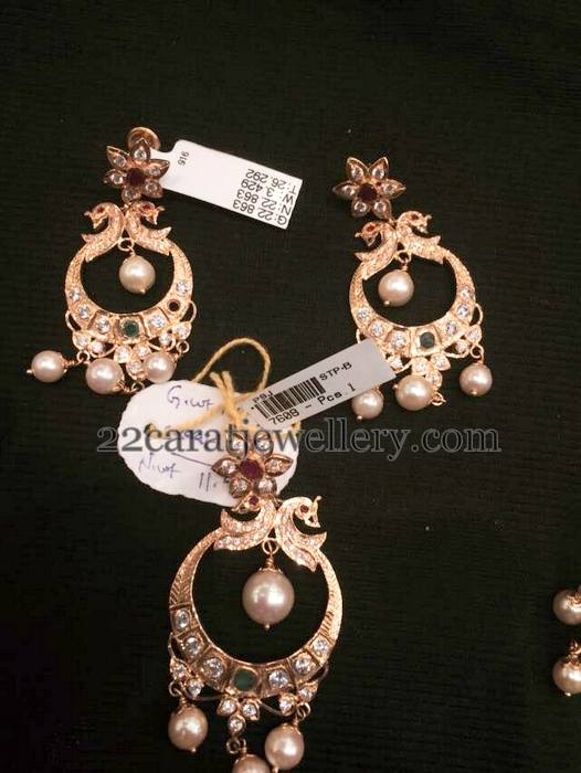 20 Gms Chandbali Pendant Earrings