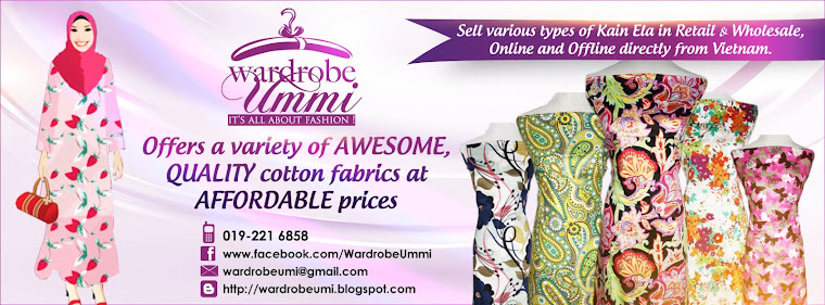 Kain Cotton by Wardrobe Ummi