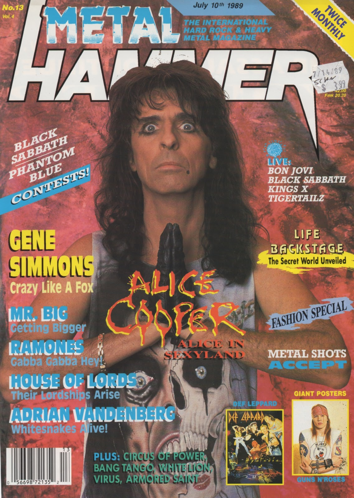 1989 Metal Hammer July 10th Issue