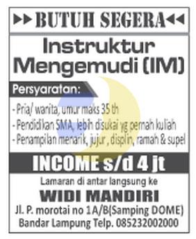Karir Lampung di Widi Mandiri