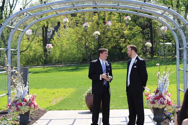 Suspended Flower Arrangements Penn State Wedding - Splendid Stems