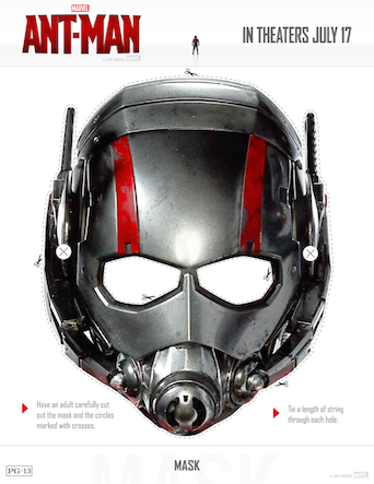 ant-man mask cut-out free printables