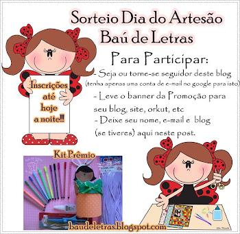 Sorteio no Blog Baú de Letras