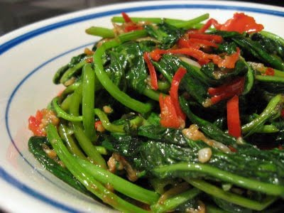Singapore Spinach Picture on Ingredients 1lb Kangkung Also Called Water Spinach Or Water