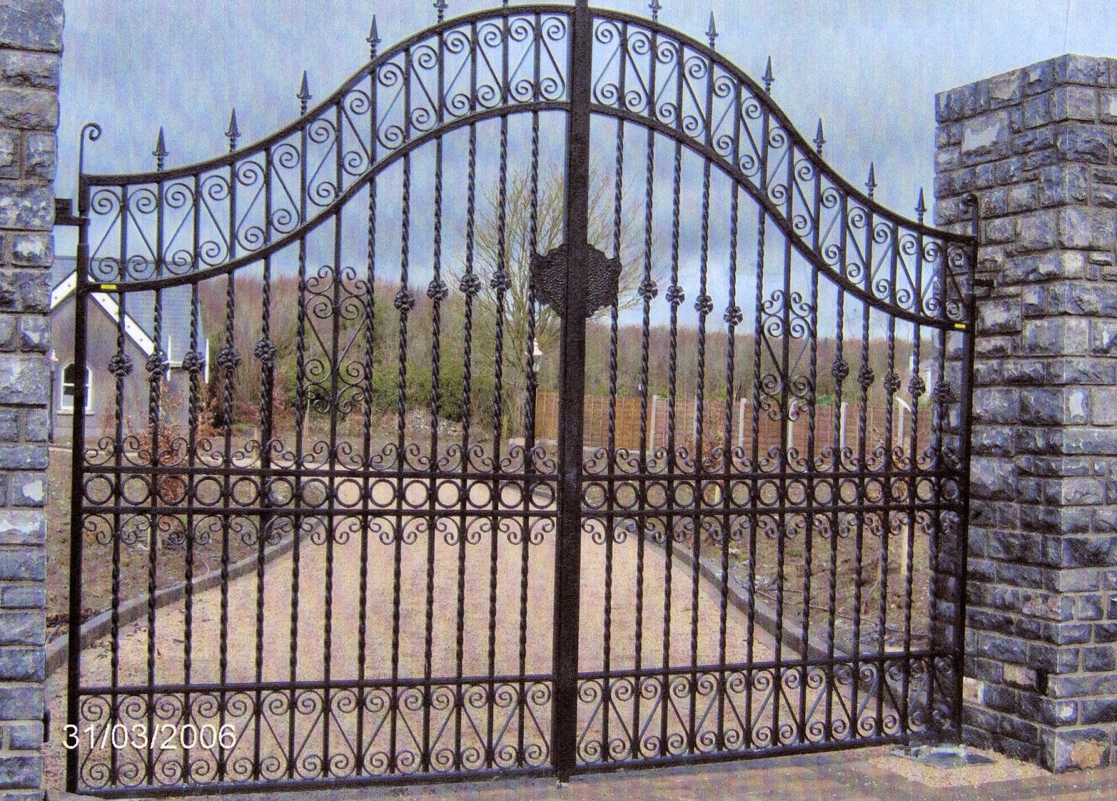 iron gate single girls Duragates cantilever gate hardware offers a trouble free and easy to  recommended for medium size commercial rolling gates or large decorative wrought iron estate.