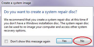 Cara Membuat System Image Untuk Recovery
