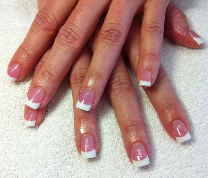 Pink And White Nail Tip Designs Pink And White Acrylic Nails
