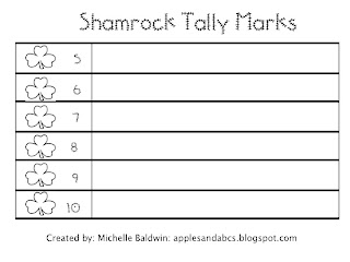 shamrock tally marks apples and abc 39 s. Black Bedroom Furniture Sets. Home Design Ideas