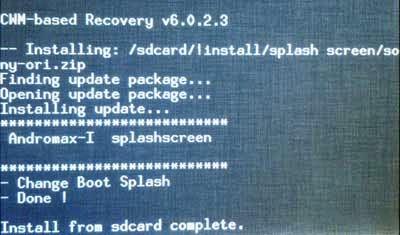 Install Zip dari Sdcard