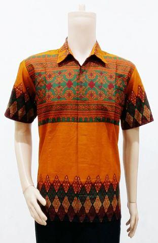 Baju Batik Modern Motif Tenun Rang Rang Batik Bagoes Solo