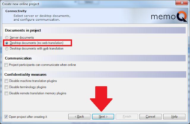 memoq how to download translation