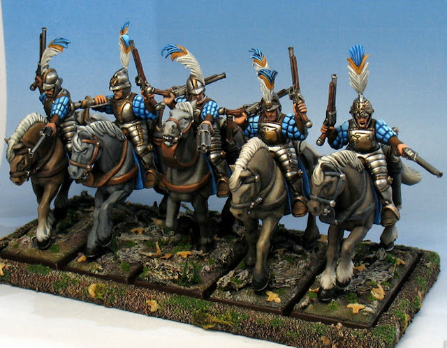 Painted Empire Pistolier unit