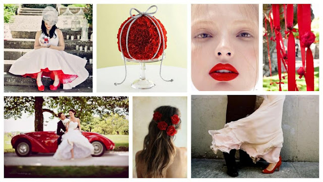 Red and White Wedding Inspiration