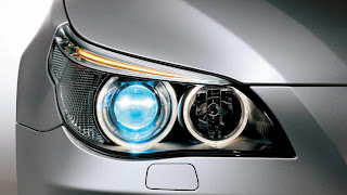 Bmw Blue Head Light HD Wallpaper