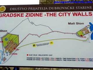 Mapa muralla de Ston