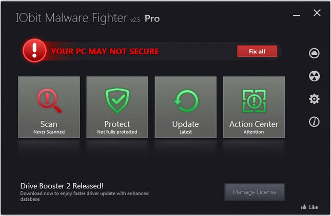IObit Malware Fighter Professional 2.5.0.8 CRACK FREE DOWNLOAD