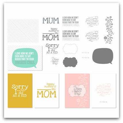Stampin' Up! For Mom Greeting Card Templates Digital Download
