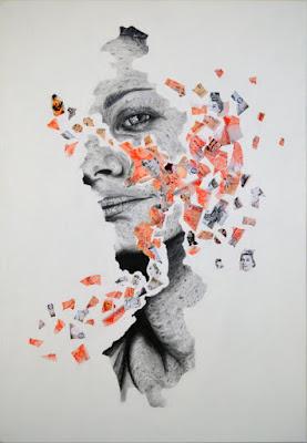 Rostros Femeninos Fragmentados Ilustraciones