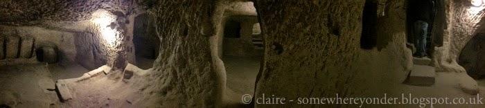 exploring Derinkuyu underground city, Cappadocia