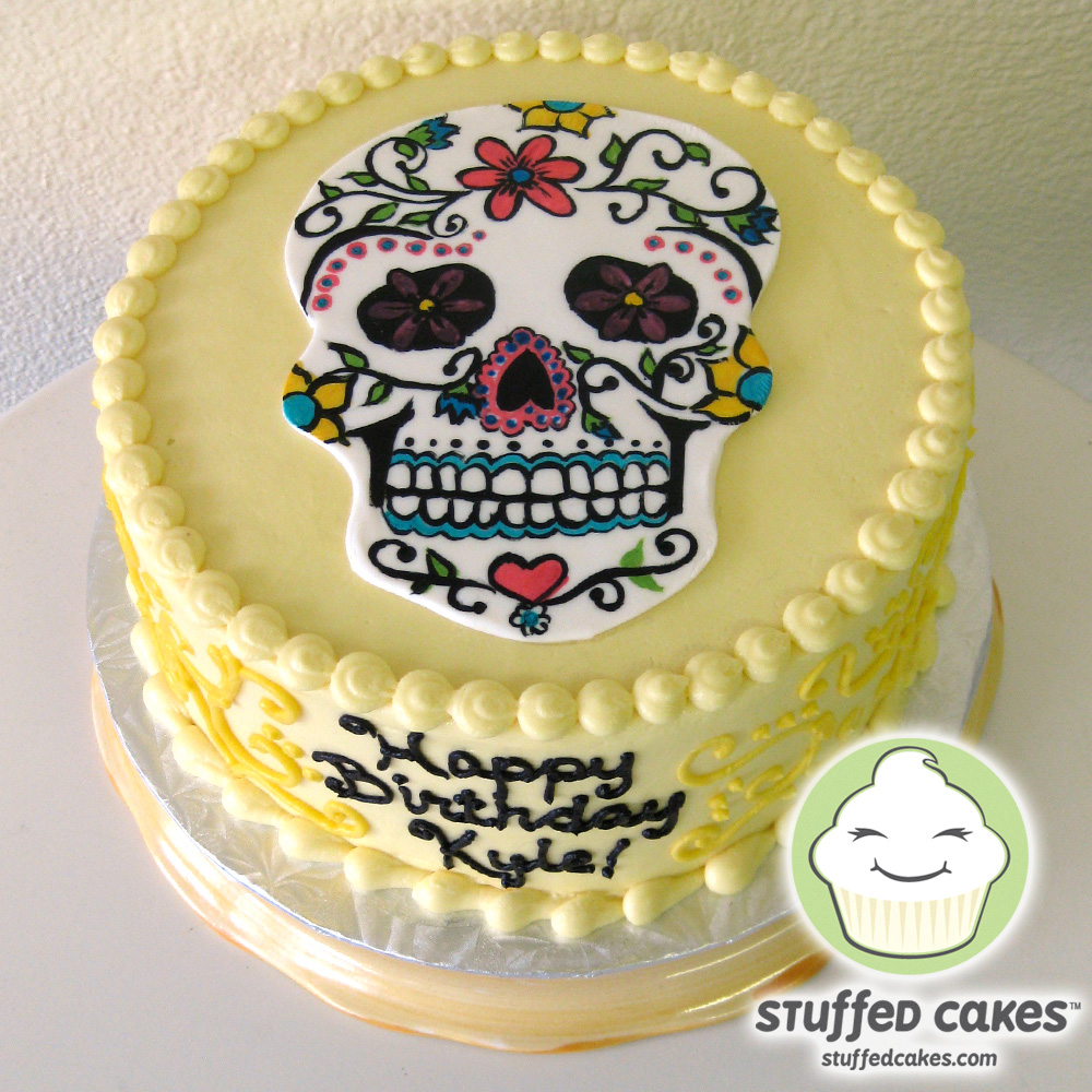 Sug Art Cake Design : Stuffed Cakes: Sugar Skull Cake