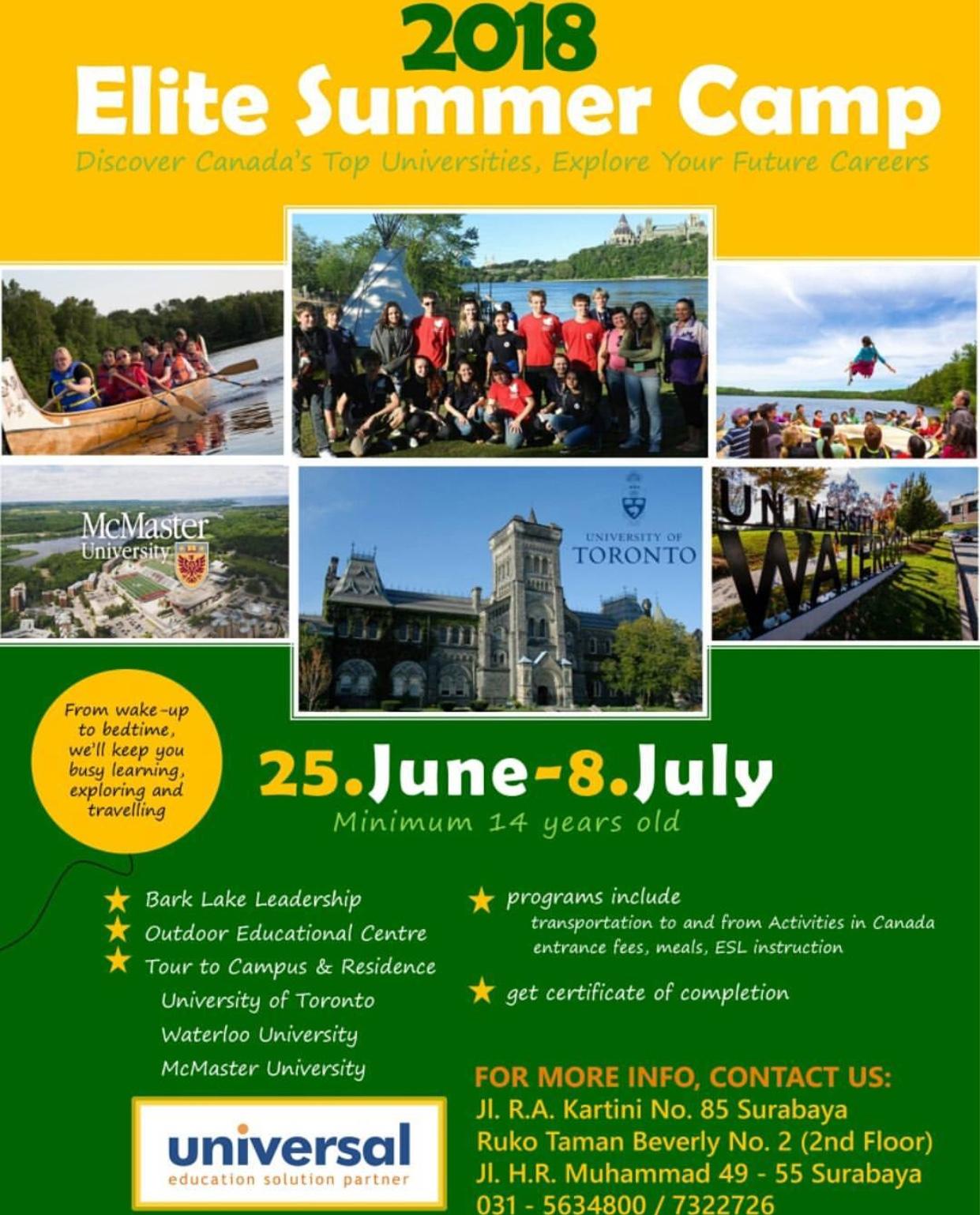 ELITE summer camp 2018