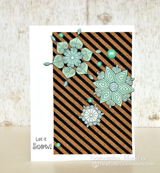Snowflake Card by Samantha Mann for Newton's Nook Designs | Beautiful Blizzard Stamp Set