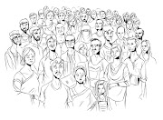 CROWD. Drawn by MANGA STUDIO. Posted by Mehedi Haque at 1:40 AM