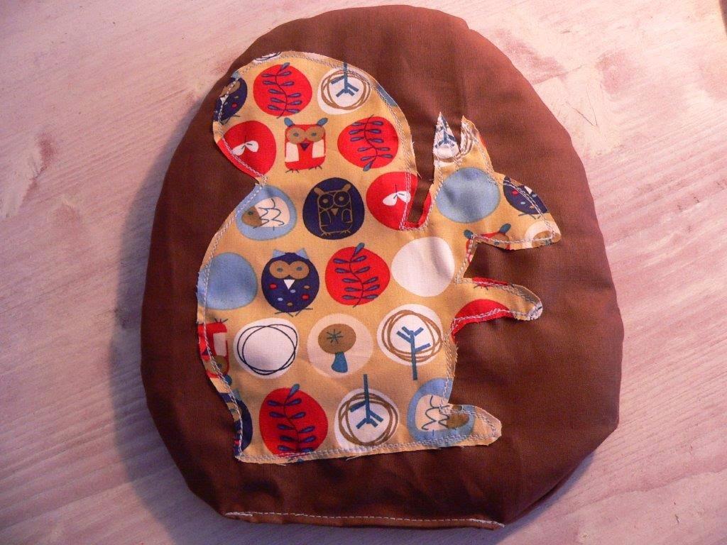 Dinkelkissen DIY Nähen Eichhörnchen Weihnachten Weihnachtsgeschenk Idee