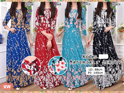 Refina Maxi Dress Bunga