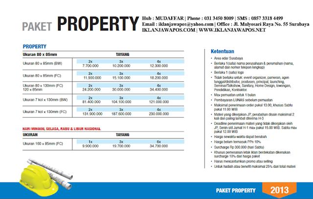 Jawa Pos Iklan Paket Property 2013