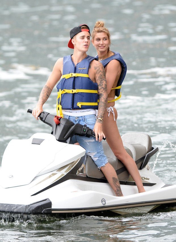 Justin Bieber and Hailey Baldwin in Miami, USA