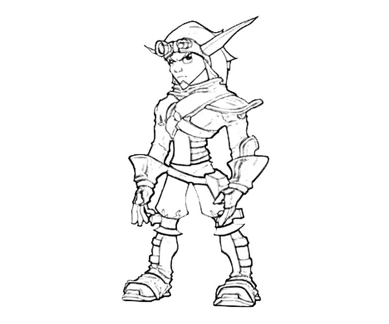 Jak Form 2 How Coloring Jak And Daxter Coloring Pages