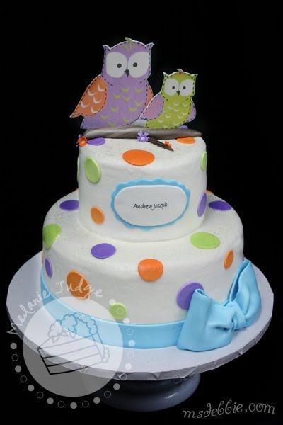 Cake Walk Owl Baby Shower Cake