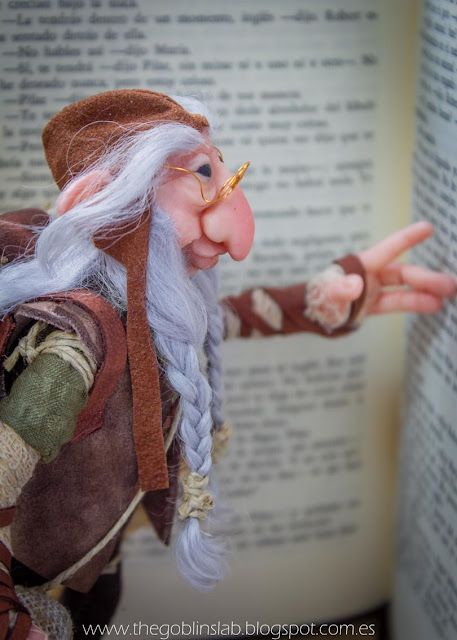 ooak fantasy creature old wise elf goblin