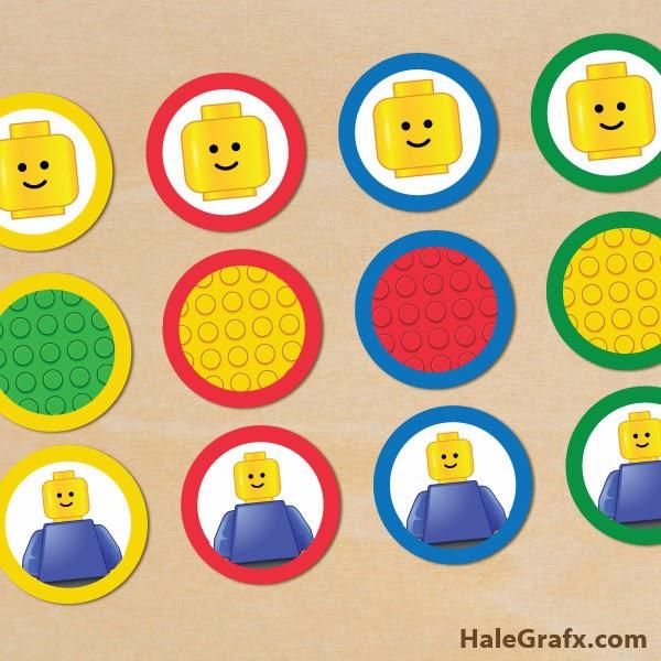 Kit de Lego para Imprimir Gratis. | Ideas y material gratis para fiestas y celebraciones Oh My ...