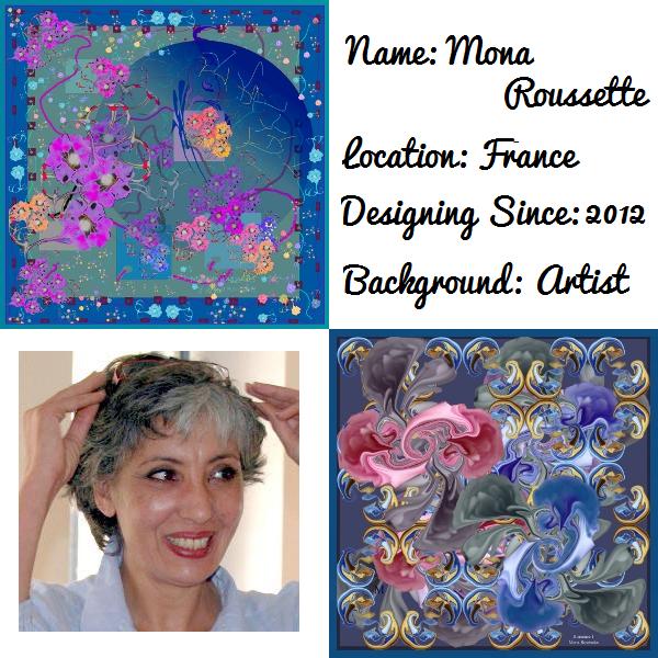 French silk scarf designer Mona Roussette