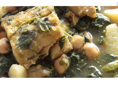 Garbanzos con espinacas bacalao y patatas - Garbanzos espinacas bacalao ...