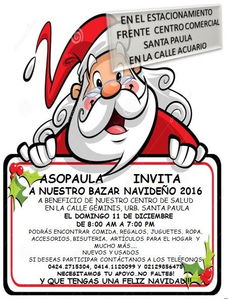 Bazar Navideño a Beneficio Ctro de Salud ASOPAULA, #Baruta