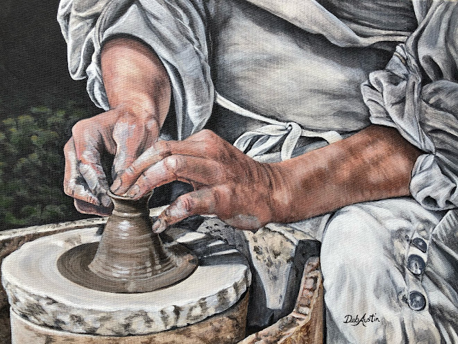 """A Potter's Hands (Acrylic 12""""x16"""")"""
